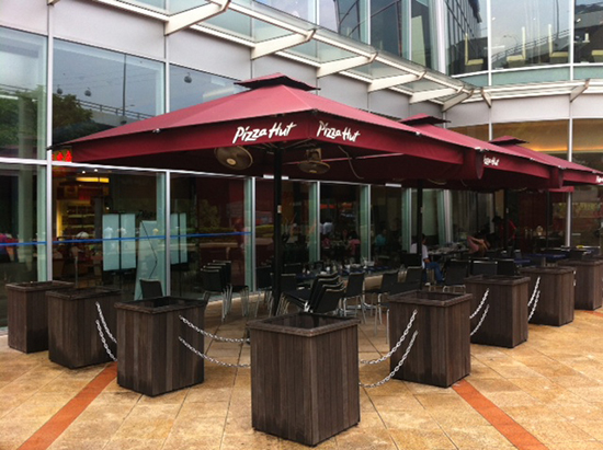 Umbrella awnings in Singapore